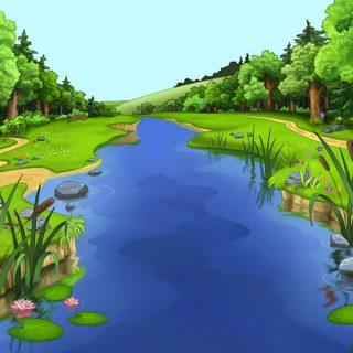 Красивые картинки реки для детей - увлекательная сборка 7