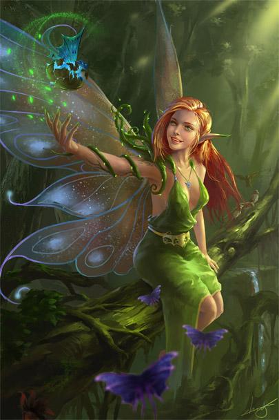 Красивые картинки эльфы и феи - загадочная коллекция 22