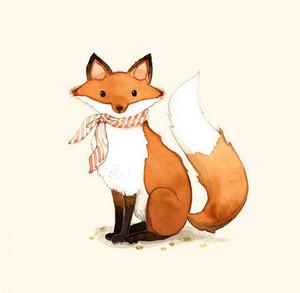 Лис и лиса картинки для детей - очень красивые и интересные 10