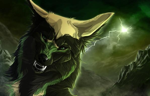 Прикольные и красивые арт картинки волка. Нарисованный волк, фэнтези 1
