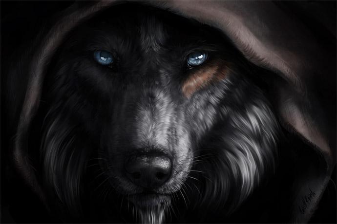 Прикольные и красивые арт картинки волка. Нарисованный волк, фэнтези 10