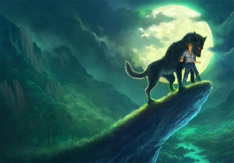 Прикольные и красивые арт картинки волка. Нарисованный волк, фэнтези 14