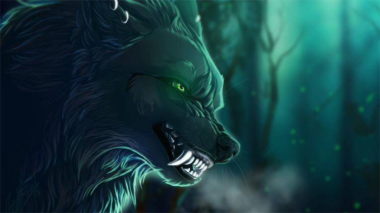 Прикольные и красивые арт картинки волка. Нарисованный волк, фэнтези 3