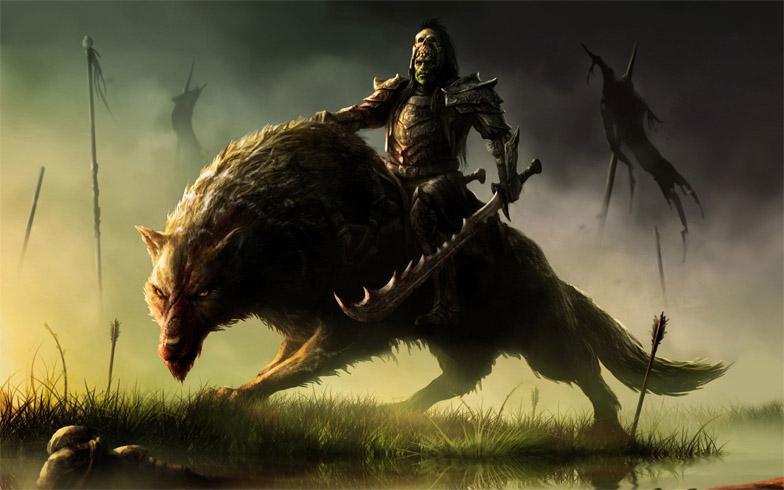 Прикольные и красивые арт картинки волка. Нарисованный волк, фэнтези 9