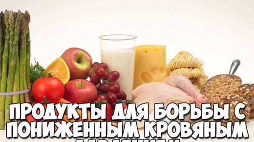 Продукты для борьбы с пониженным кровяным давлением - полезный список 1