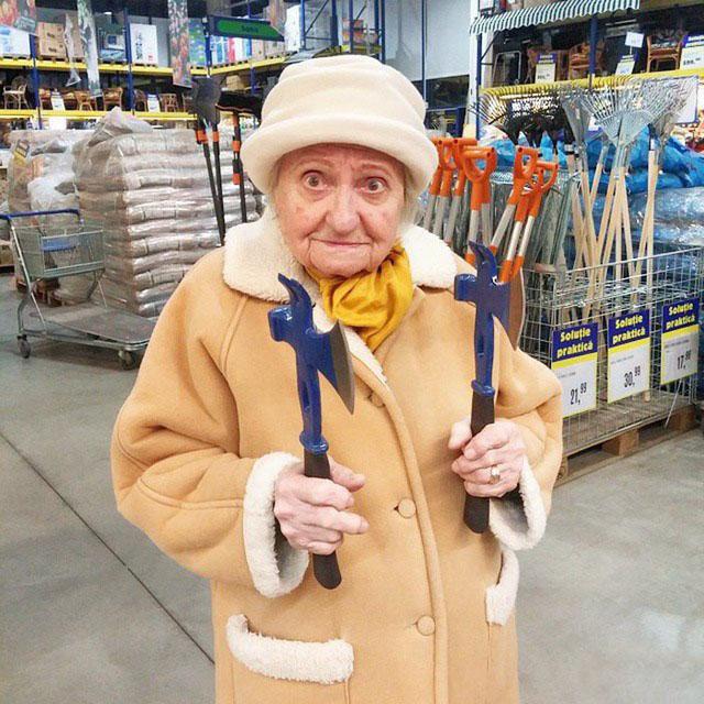 Смешные фото стариков и старушек - забавная коллекция 2018 3