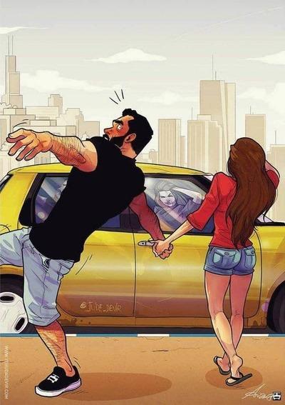 Забавные комиксы Иегуды Ади Девира про его веселую жизнь с супругой 28