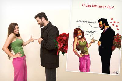 Забавные комиксы Иегуды Ади Девира про его веселую жизнь с супругой 29