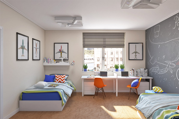 Как обустроить маленькую детскую спальню Интересные советы 10