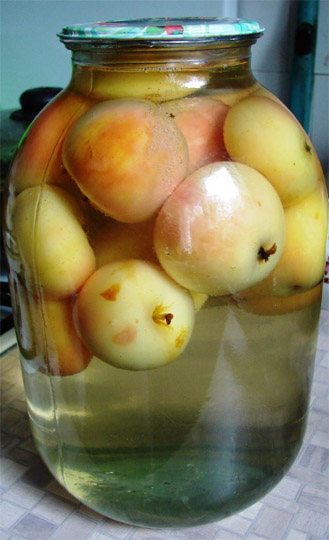 Как правильно варить компот из свежих или сушеных яблок - рецепт 1