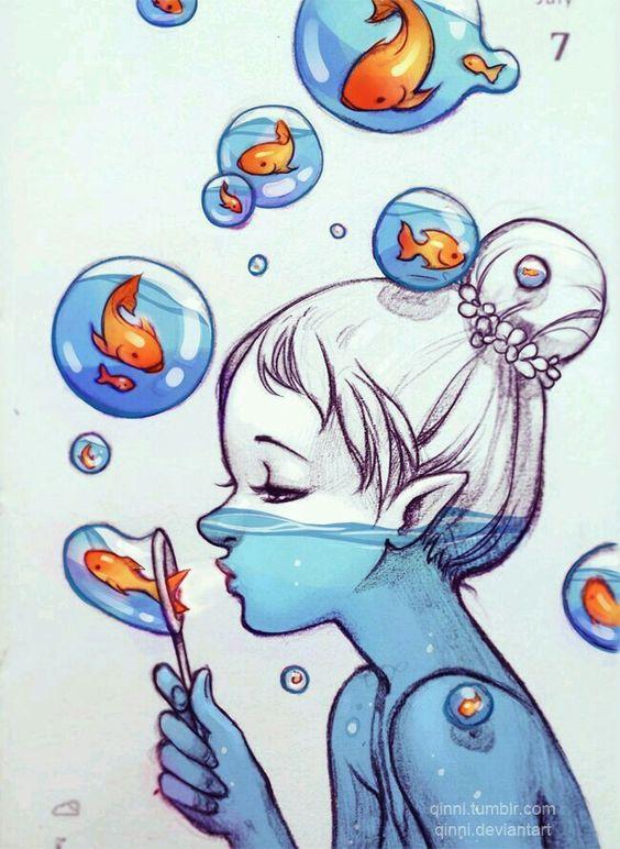 Красивые картинки для девочек цветные и карандашом - сборка 13