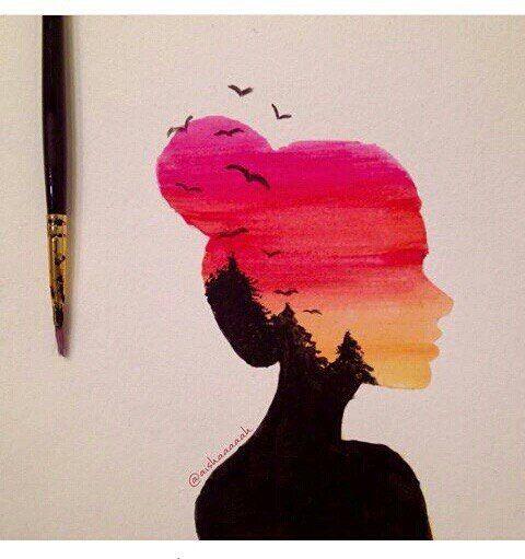 Красивые картинки для девочек цветные и карандашом - сборка 16