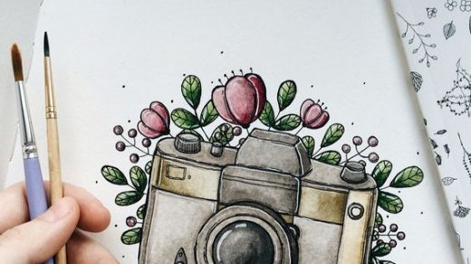Красивые картинки для девочек цветные и карандашом - сборка 7