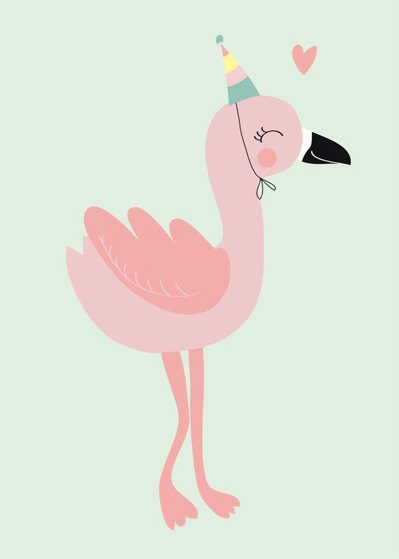 Красивые картинки фламинго для срисовки - интересная подборка 2