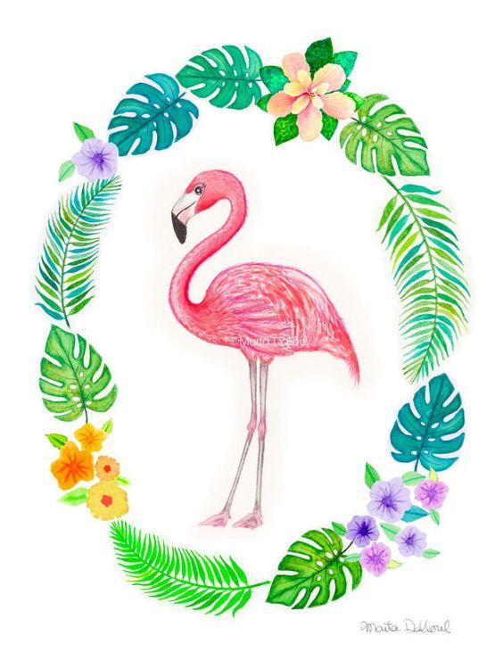 Красивые картинки фламинго для срисовки - интересная подборка 7