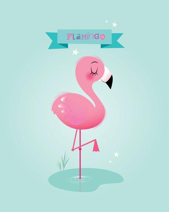 Красивые картинки фламинго для срисовки - интересная подборка 9