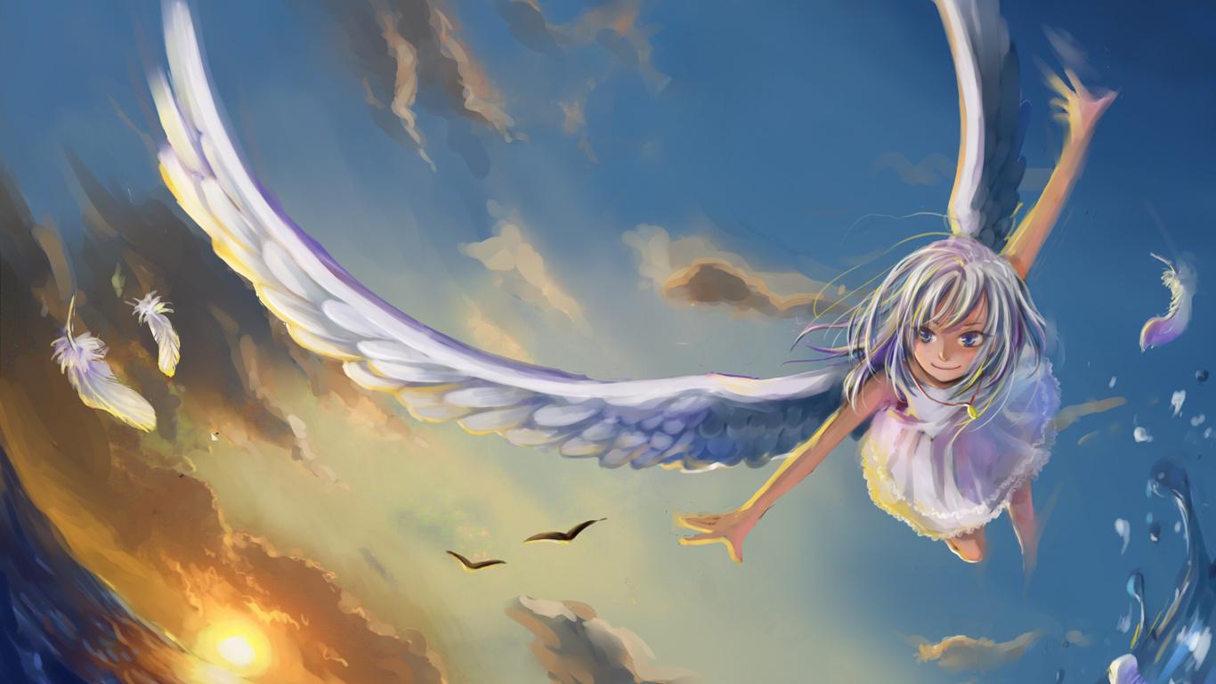 Красивые обои на рабочий стол Ангелы - прикольная подборка 8