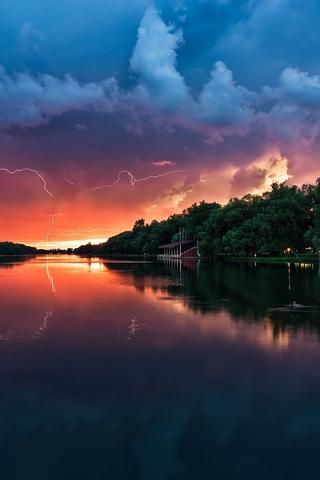 Крутые и красивые картинки на телефон закат, закат Солнца 11