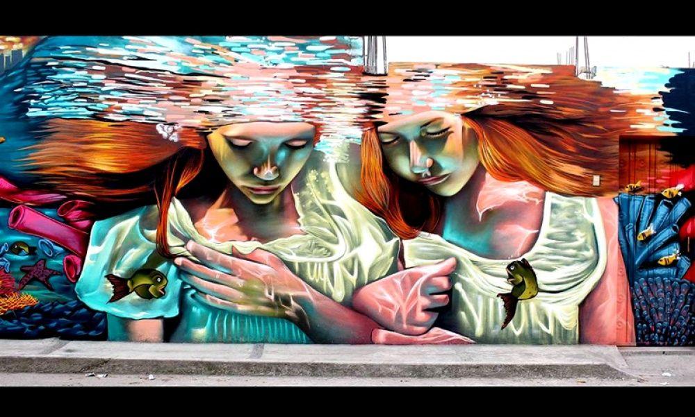 Крутые стрит-арт граффити, картинки граффити - прикольная сборка 1