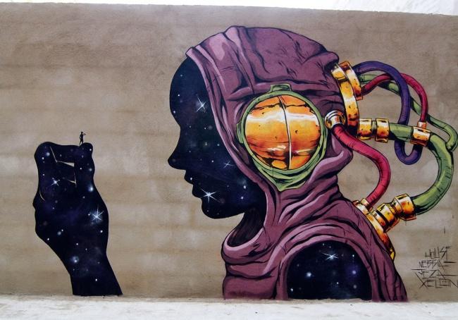 Крутые стрит-арт граффити, картинки граффити - прикольная сборка 14