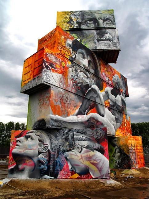 Крутые стрит-арт граффити, картинки граффити - прикольная сборка 17