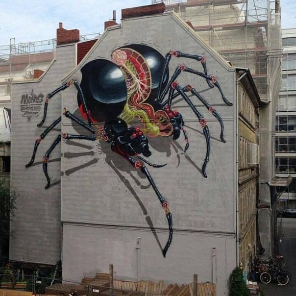 Крутые стрит-арт граффити, картинки граффити - прикольная сборка 2