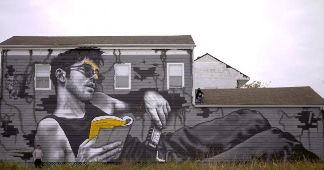 Крутые стрит-арт граффити, картинки граффити - прикольная сборка 4