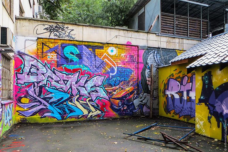 Крутые стрит-арт граффити, картинки граффити - прикольная сборка 6
