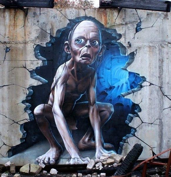 Крутые стрит-арт граффити, картинки граффити - прикольная сборка 8