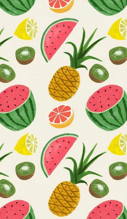 Прикольные и кавайные картинки фруктов для срисовки - подборка 10