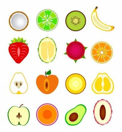 Прикольные и кавайные картинки фруктов для срисовки - подборка 2