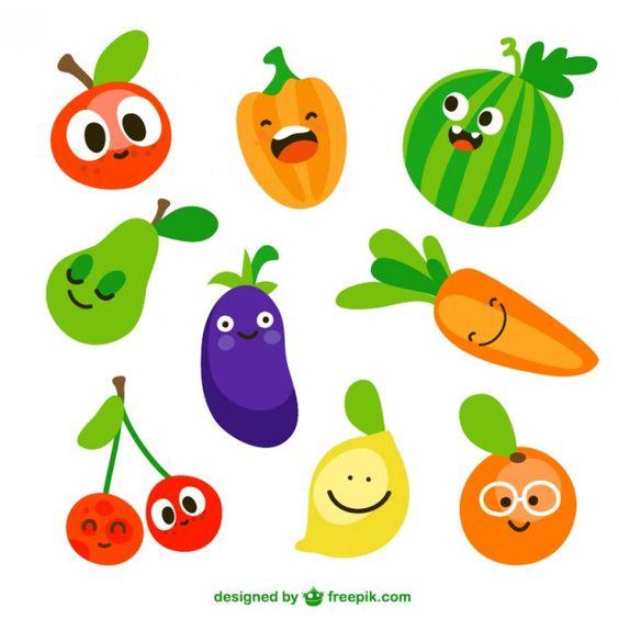 Прикольные и кавайные картинки фруктов для срисовки - подборка 3