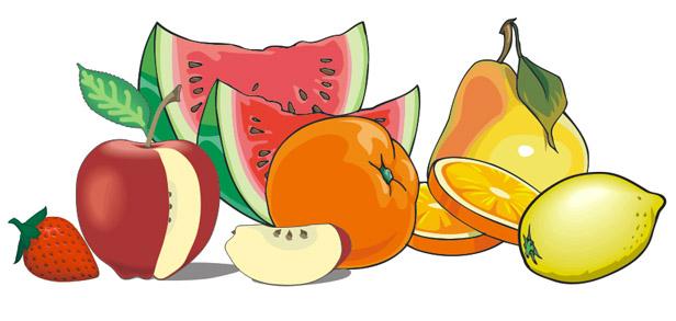 Прикольные и кавайные картинки фруктов для срисовки - подборка 4