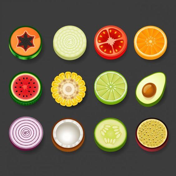 Прикольные и кавайные картинки фруктов для срисовки - подборка 6