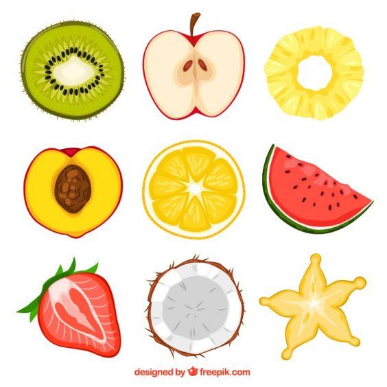 Прикольные и кавайные картинки фруктов для срисовки - подборка 9
