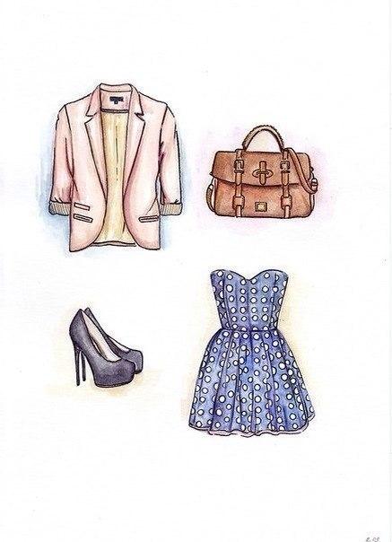 Прикольные и красивые картинки одежды для срисовки - подборка 21
