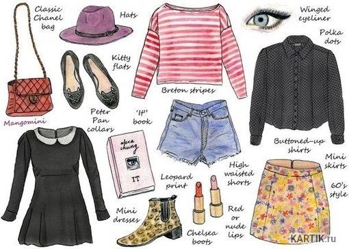 Прикольные и красивые картинки одежды для срисовки - подборка 6