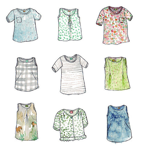 Прикольные и красивые картинки одежды для срисовки - подборка 7