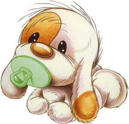 Прикольные картинки щенков для срисовки - милая подборка 5