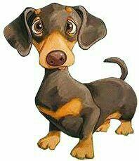 Прикольные картинки щенков для срисовки - милая подборка 7