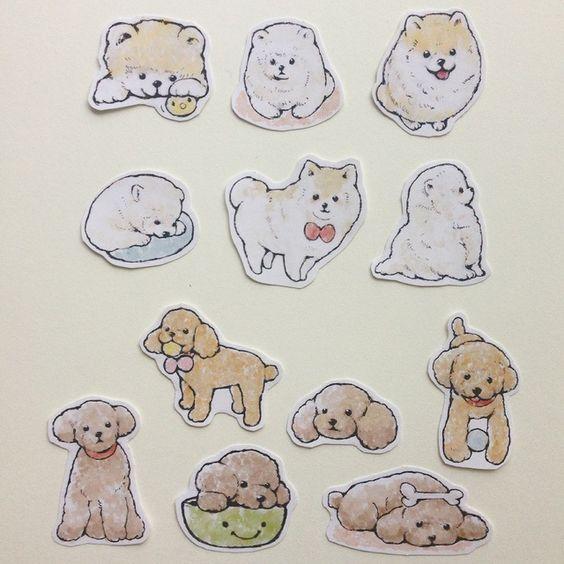 Прикольные картинки щенков для срисовки - милая подборка 9