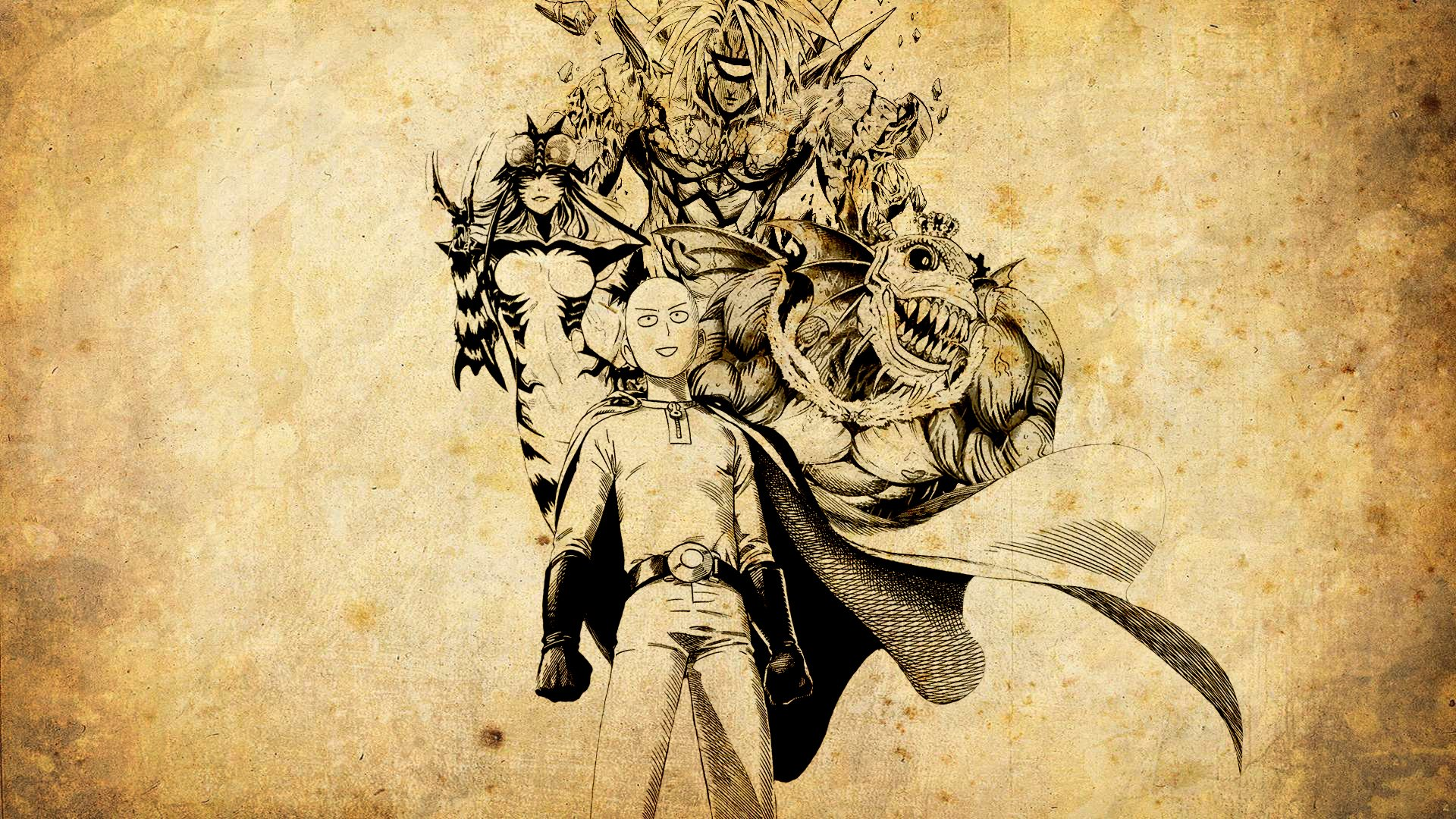Аниме Ванпанчмен, One Punch Man - крутые обои на рабочий стол 14