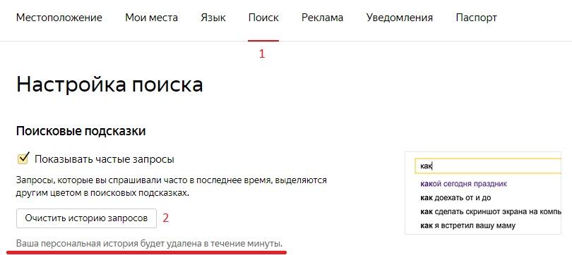 Как очистить историю поиска в Яндексе - несколько простых способов 2