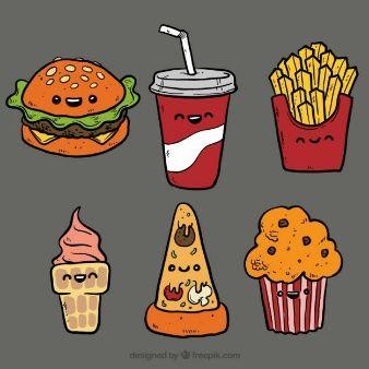 Картинки сладостей и вкусняшек для срисовки в дневник - подборка 1