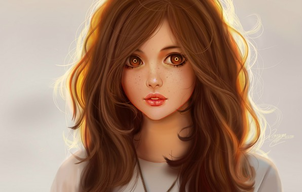 Красивые Арты девушек на аву в социальные сети - подборка 18