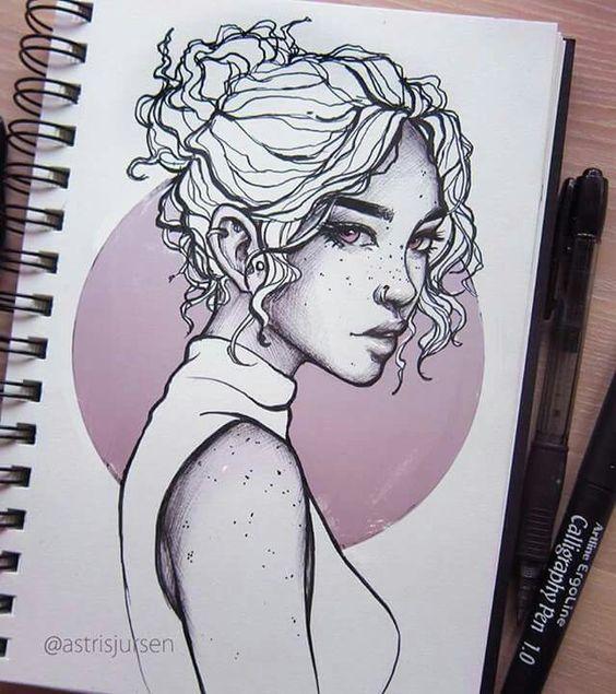 Красивые и милые картинки арт девочек для срисовки - сборка 14