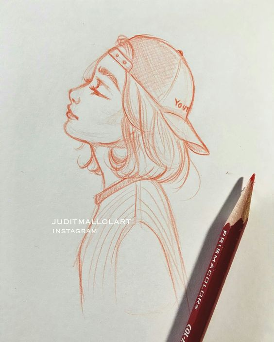 Красивые и милые картинки арт девочек для срисовки - сборка 19