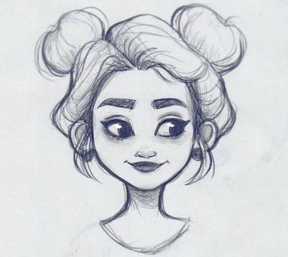 Красивые и милые картинки арт девочек для срисовки - сборка 6