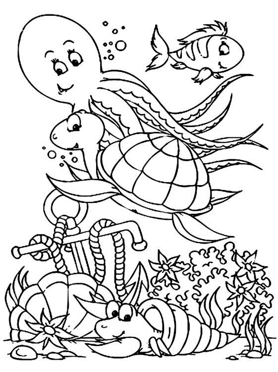 Красивые и прикольные морские картинки для срисовки - подборка 5
