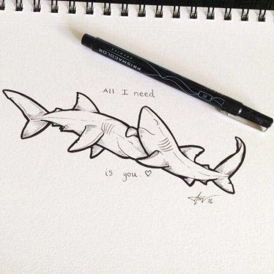 Красивые и прикольные морские картинки для срисовки - подборка 9